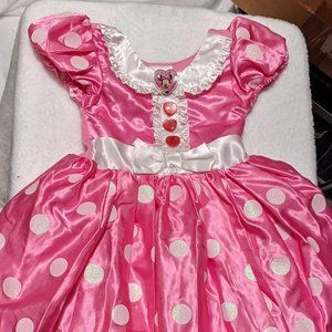 Disney Minnie Mouse Pink & White Dress Up Costume
